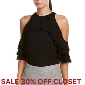 Alice + Olivia | NWT Black Silk Top